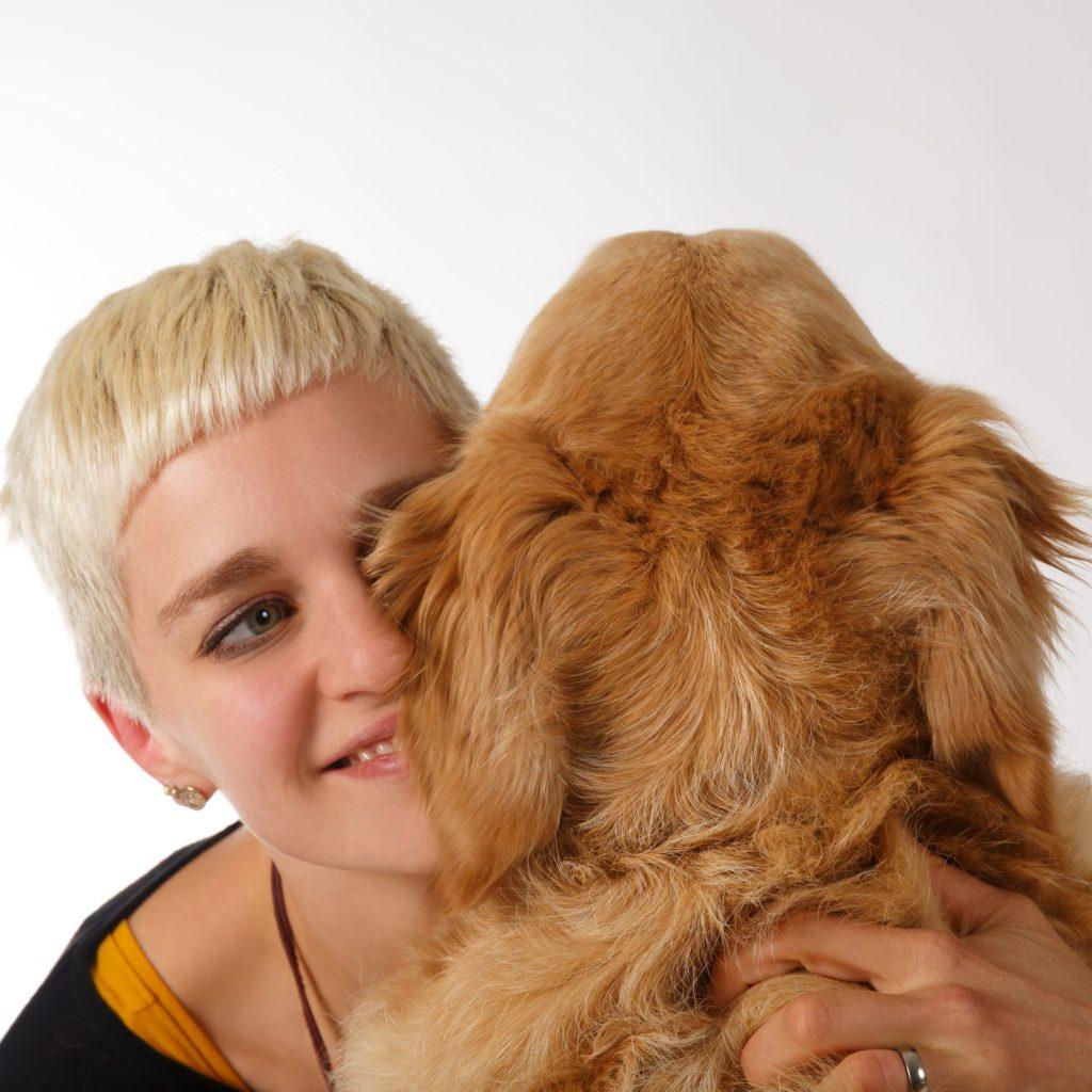 Johanna und Hund Timber